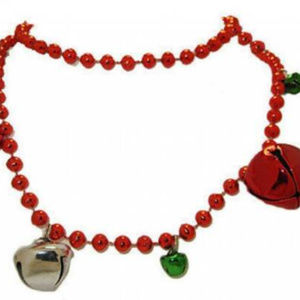 Holiday bell charm necklace christmas RED or GREEN